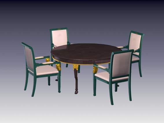Furniture -chairs a029 3D Model