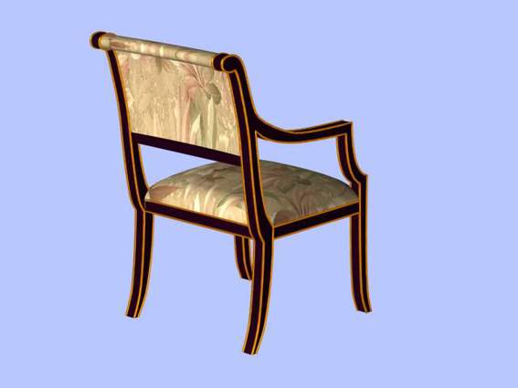 Furniture -chairs a033 3D Model
