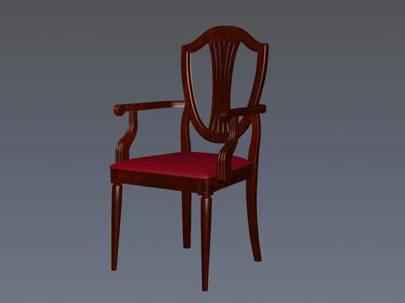 Furniture -chairs a034 3D Model
