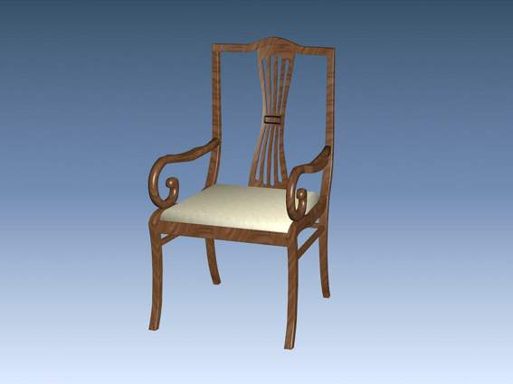 Furniture – chairs a043 3D Model