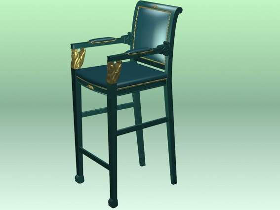 Furniture – chairs a046 3D Model