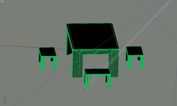 Furniture combination 001tables and chairs 76 3D Model