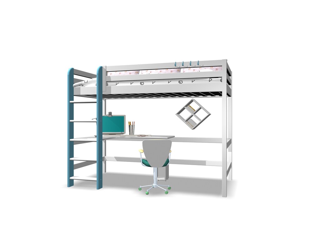 Furniture- double bed 3D Model