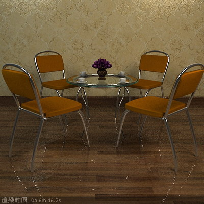 Furniture Model: Chairs and Table 3D Model