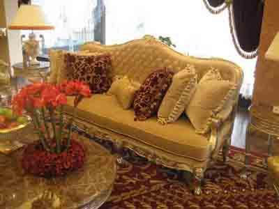 Furniture Model: Deluxe Brown Velvet Sofa 3D Model