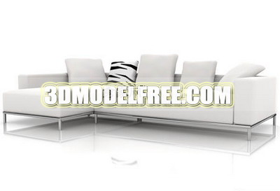 Furniture Model: White Modernism Chesterfield 3ds Max model