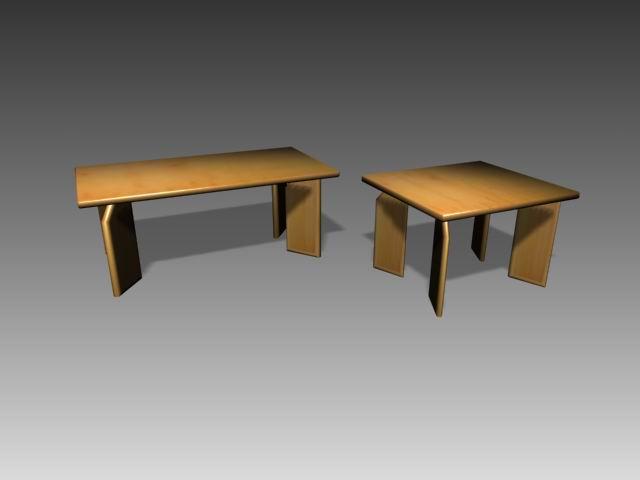 Furniture -tables  a076 3D Model