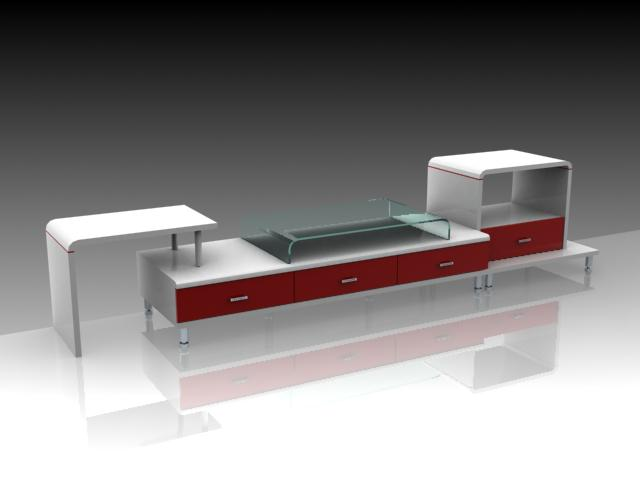 Furniture-TV counters 2 3D Model