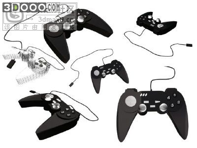 Game controllers 3D Model