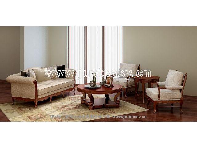 Garden-style sofa combination 3D Model
