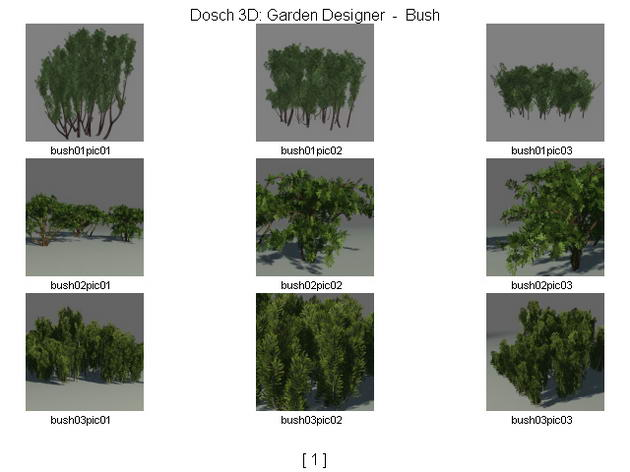 Garden trees / forests 3D Model
