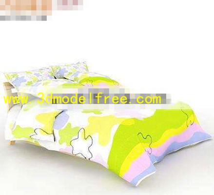 Generous fashion Children Bed 3D Model