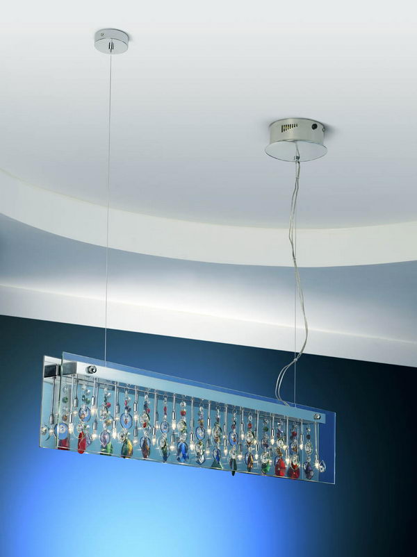 Glass Rectangle Pendant Lamp 3D Model