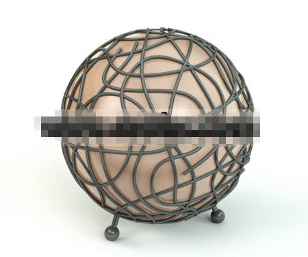Globe model floor lamp 3D Model
