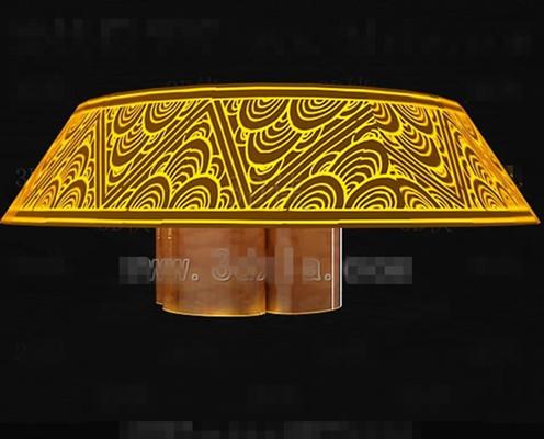 Gold gorgeous unique chandeliers 3D Model