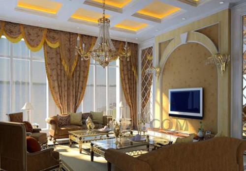 Golden European style living room 3D Model