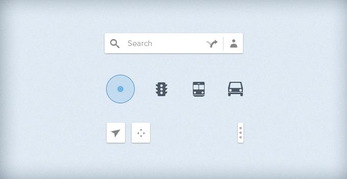 Google Map UI PSD