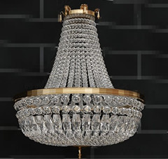 Gorgeous clear crystal pendant lamp 3D Model