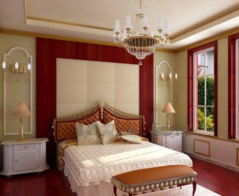 Gorgeous cozy warm colors bedroom 3D Model