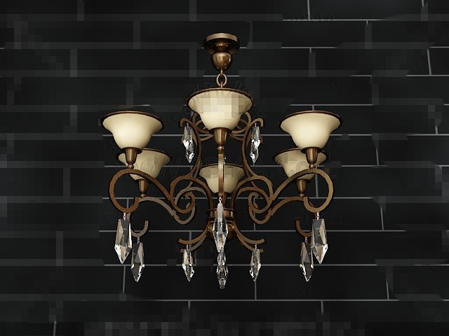 Gorgeous petal-style chandeliers 3D Model