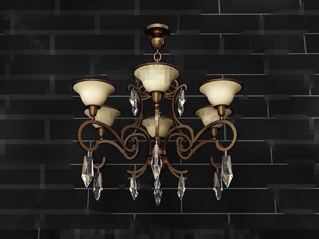 Gorgeous petal-style chandeliers 3D Model