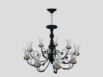 Gothic chandelier model 3D Model
