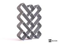 Gray and white Diamond-shaped grid storage rack 3D Model