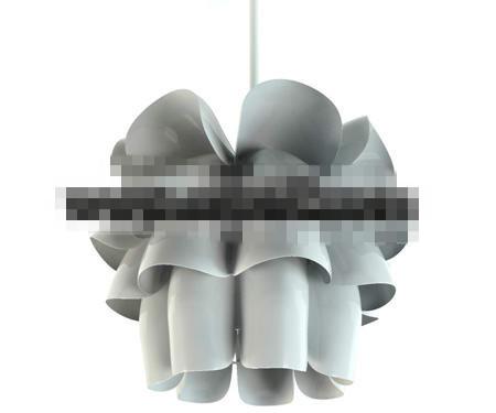 Gray and white flowerlike pendant lamp 3D Model