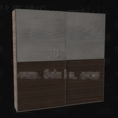 Gray-brown double color portfolio wardrobe 3D Model
