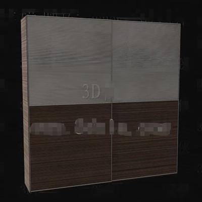 Gray-brown double color portfolio wardrobe 3D Model