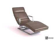 Gray casual comfortable lounge chair 3D Model