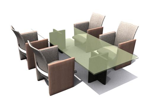 Green glass chair 3D models