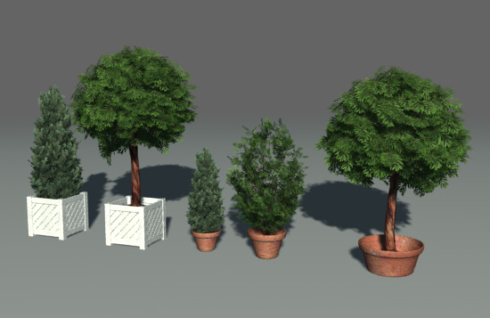 Green Parks / plants / trees 3D Model