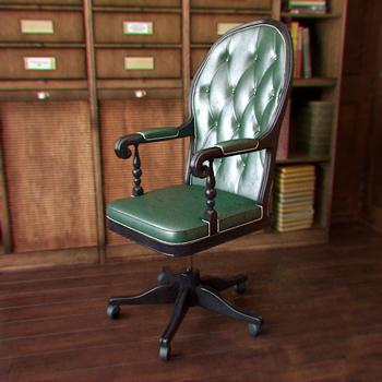 Green Simple Classic Boss armchair 3D Model