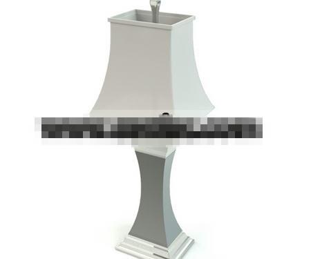 Green white gypsum lamp 3D Model