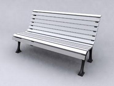 Grey leisure chair model 3D Model