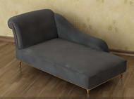 Grey single comfortable recliner sofa 3D Model