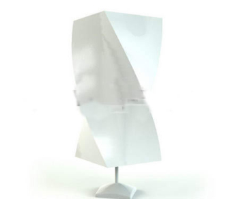 Gypsum abstract rectangular lamp 3D Model