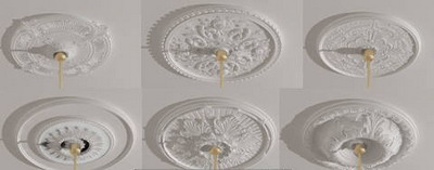 Gypsum lamp panel 3D model