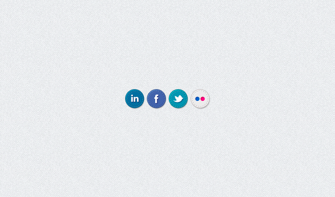 Hand Stitched Social Media Icons PSD
