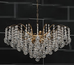 Heart-shaped crystal curtain chandelier 3D Model