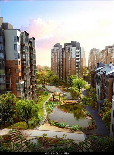 High-rise residential bird 3D Model