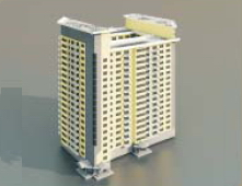 High-rise residential buildings / Architectural Model 3d-37