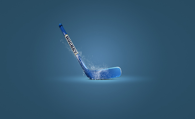 Hockey Stick Icon PSD