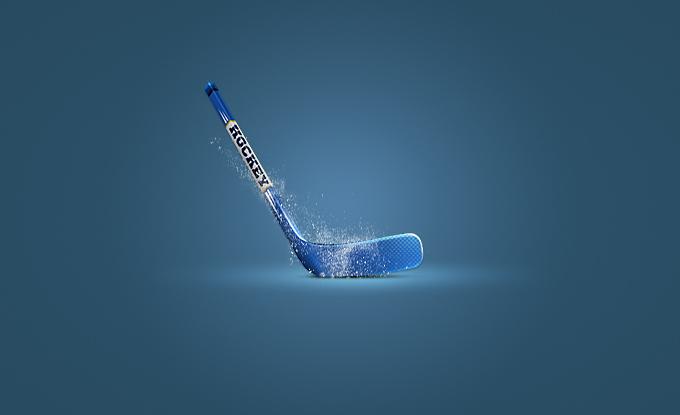Hockey Stick Icon PSD