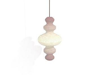 Hoist shaped spiral pendant lamp 3D Model
