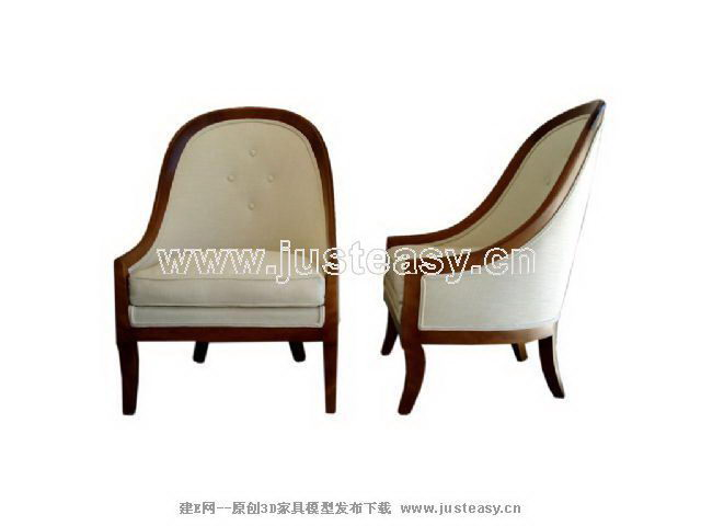Home daily round chair 3D model (including materials)