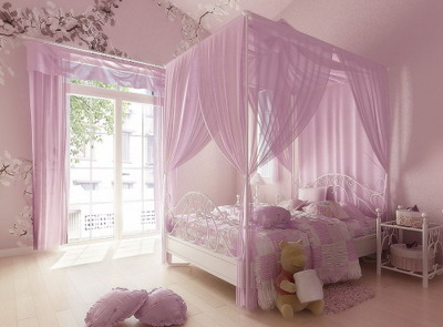 Home Interior Design: Pink Theme Bedroom 3D Model