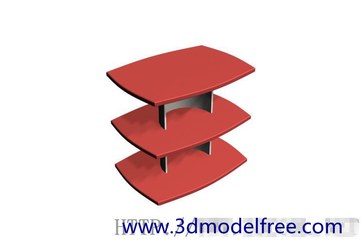 Hotel style tea table 3D Model