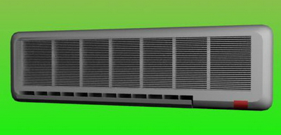 Household Appliance 3DsMax Model: Wall Mounted Split Type Air Conditioner